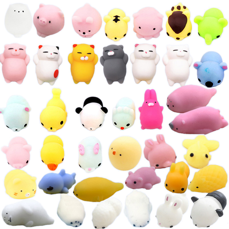 Cute Animal Squeezing Squeaking 25 New Exotic Creative Decompression Venting Toys Kawaii Animal Set Anti-Stress Children Fun Toy