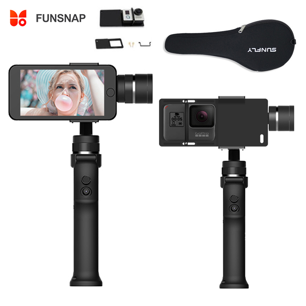 Funsnap Capture 3 Axis Handheld Phone Gimbal Stabilizer for iPhone X 8 7 Plus Samsung S8