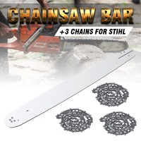 20 Inch Chainsaw Guide Bar with 3pcs Saw Chain 3/8 72DL .63 For STIHL MS290 MS291 310 340 360 380 391 440 Accessories