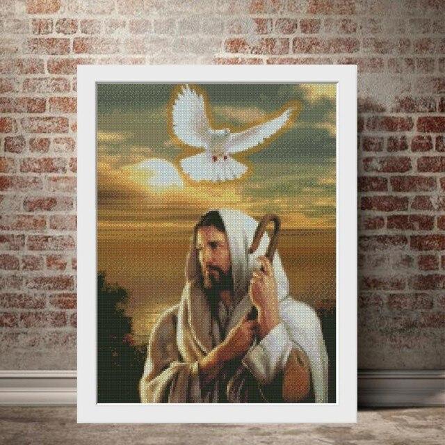 Huacan 5D DIY Diamond Painting Religion Full Square Picture Diamond Mosaic Icon Jesus Christ Home Decoration
