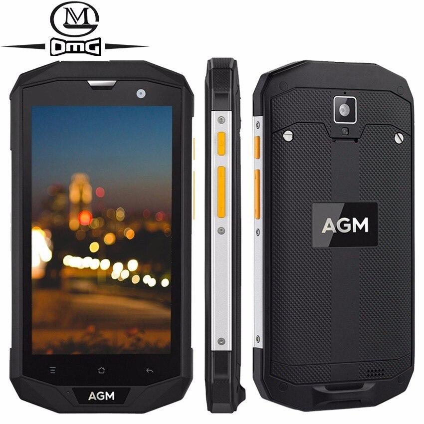 AGM A8 SE IP68 étanche antichoc téléphone Mobile 5.0 ''1280*720 2 GB + 16 GB Qualcomm MSM8916 Quad Core 4050 mAh OTG 4G Smartphone