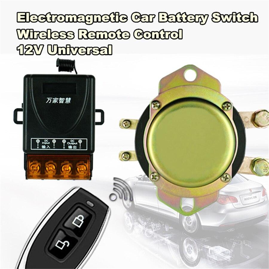 Interrupteur de batterie de voiture universel 12 V télécommande sans fil contrôle manuel déconnexion relais de verrouillage