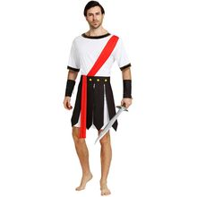 0a776dfcb Men Adult Ancient Rome Italy Warrior Soldier Cosplay Costume Fancy Dress  Outfit Carnival Masquerade Party Costumes Purim