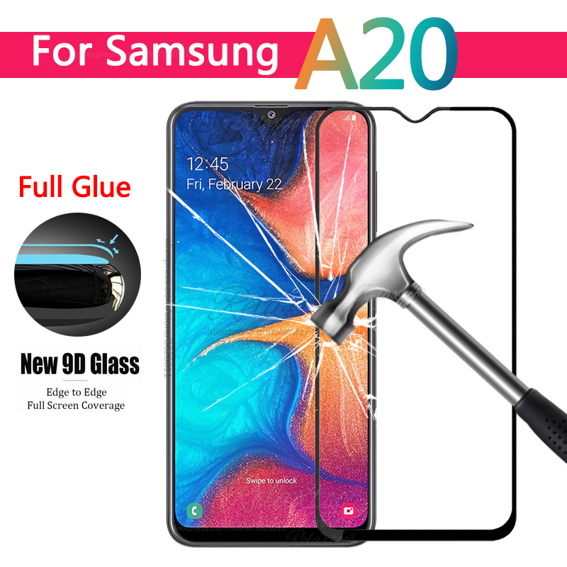 9D Curved Full Glue Tempered Glass For Samsung Galaxy A20e A20 A205F Screen Protector For Samsung A 20 E Protective Film Glas 9h