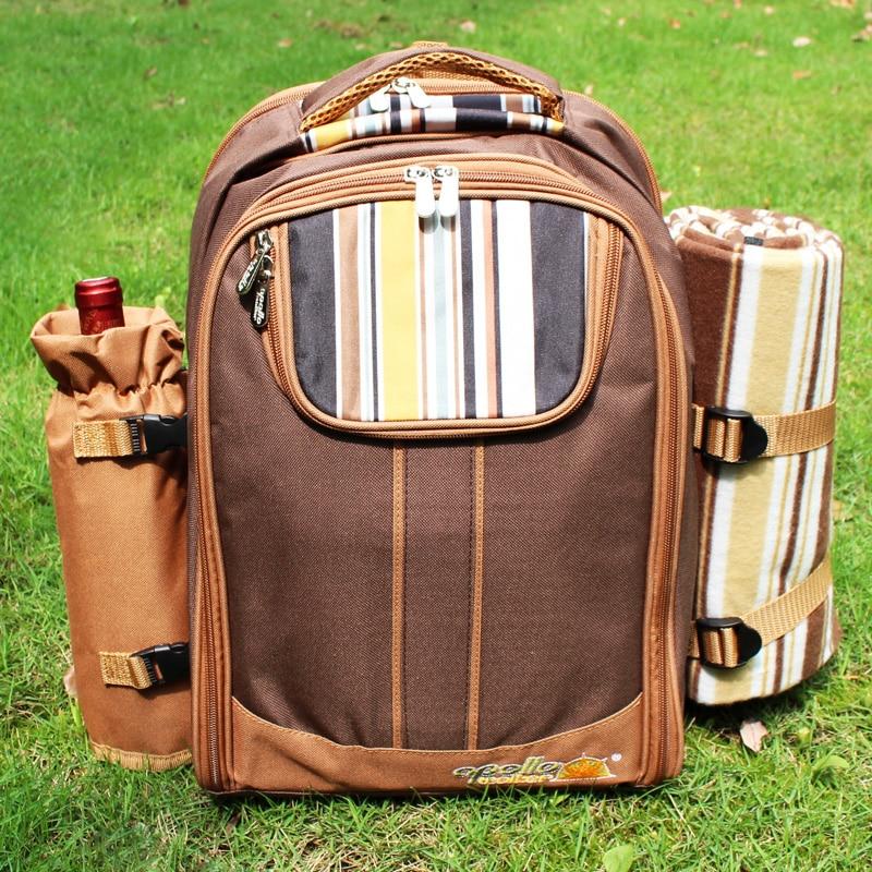 Sacchetto di Picnic di campeggio Portatile zaino con posate borsa frigo cubiertos set da picnic per 4 di Campeggio sacchetti più freddi con spedizioni gratuite in coperta - 6