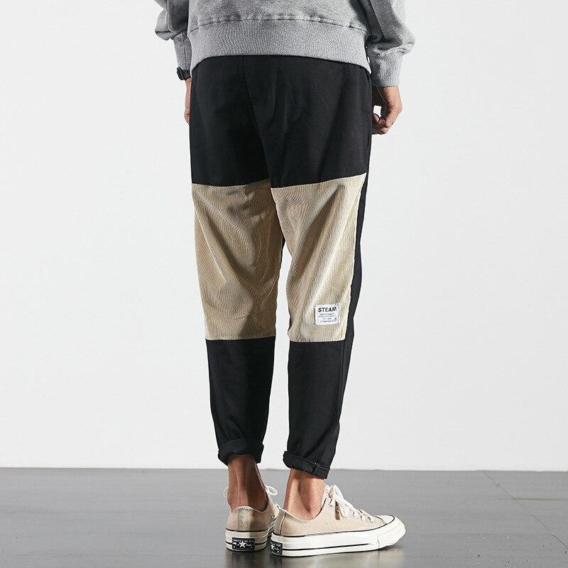 Honig Neue Mode Japan Stil Hosen Hip Hop High Street Patchwork Cargo Hosen Skateboard Neun Punkte Hosen Männer Kleine Bein Hosen Elegant Und Anmutig