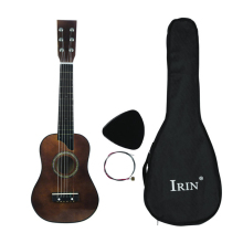 ABGZ-IRIN Mini 25 Inch Basswood Acoustic 12 Frets 6 Strings Guitar with Pick and Strings for Children Coffee Color acoustic custom guitar 41 inch full size 6 string basswood with guitar kit from us