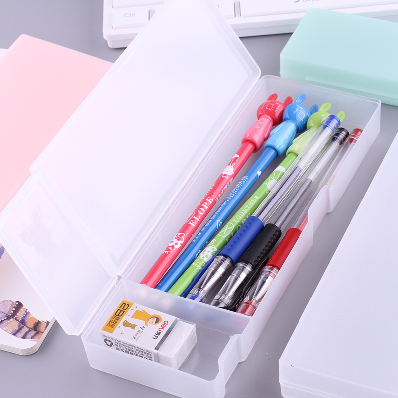 Concise More Function Originality Pencil Case Translucent Office School Supplies Cute Stationery