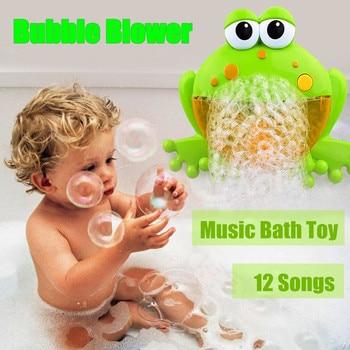 חמוד תינוק בועת צפרדעים סרטן אוטומטי מקלחת מכונה מפוח יצרנית אמבטיה מוסיקה צעצועי קריקטורה חינוכיים צעצוע מצחיק מתנה לילדים