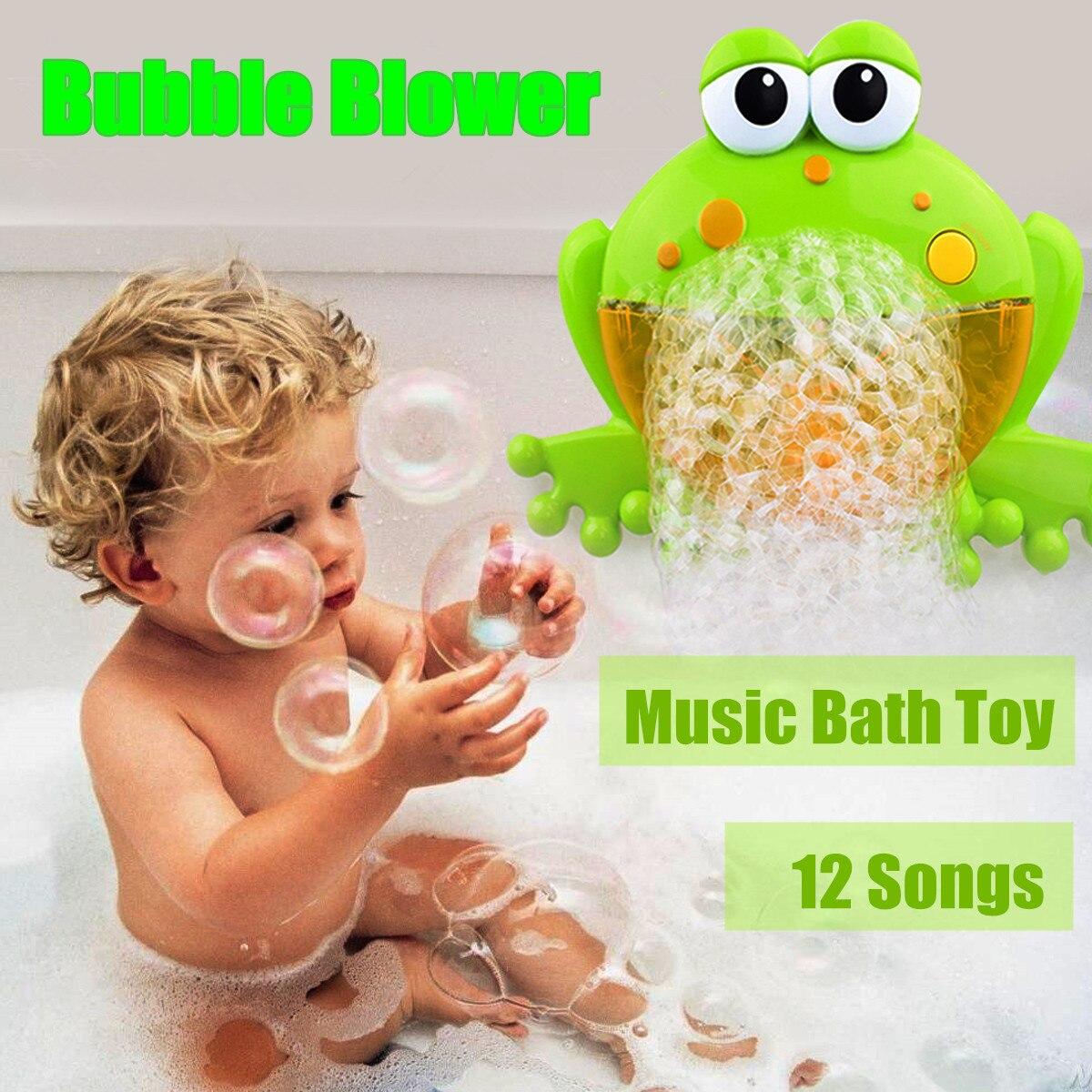 Lindo bebé de ranas cangrejo automático ducha máquina soplador de baño juguetes de dibujos animados de juguete educativo divertido regalo para los niños