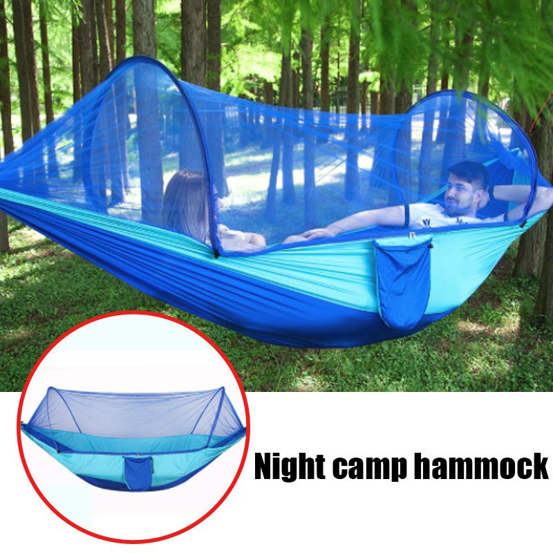 Outdoor Mosquito Net Parachute Hammock Portable Camping Hanging Sleeping Bed High Strength Sleeping Swing 250x120cm(China)