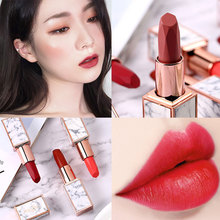 Ins the same paragraph Marble Lipstick genuine does not fade Moisturizing High Quality Makeup Beauty Lip Stick