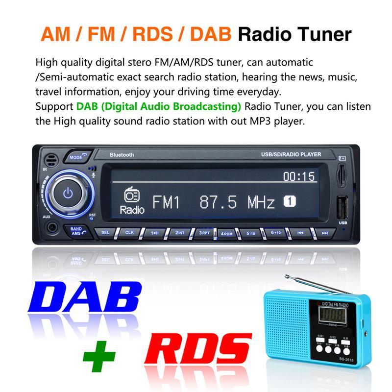 Voiture lecteur MP3 Support câble Audio Bluetooth entrée lecture fonction Radio grand écran affichage Support pour Apple Mobile