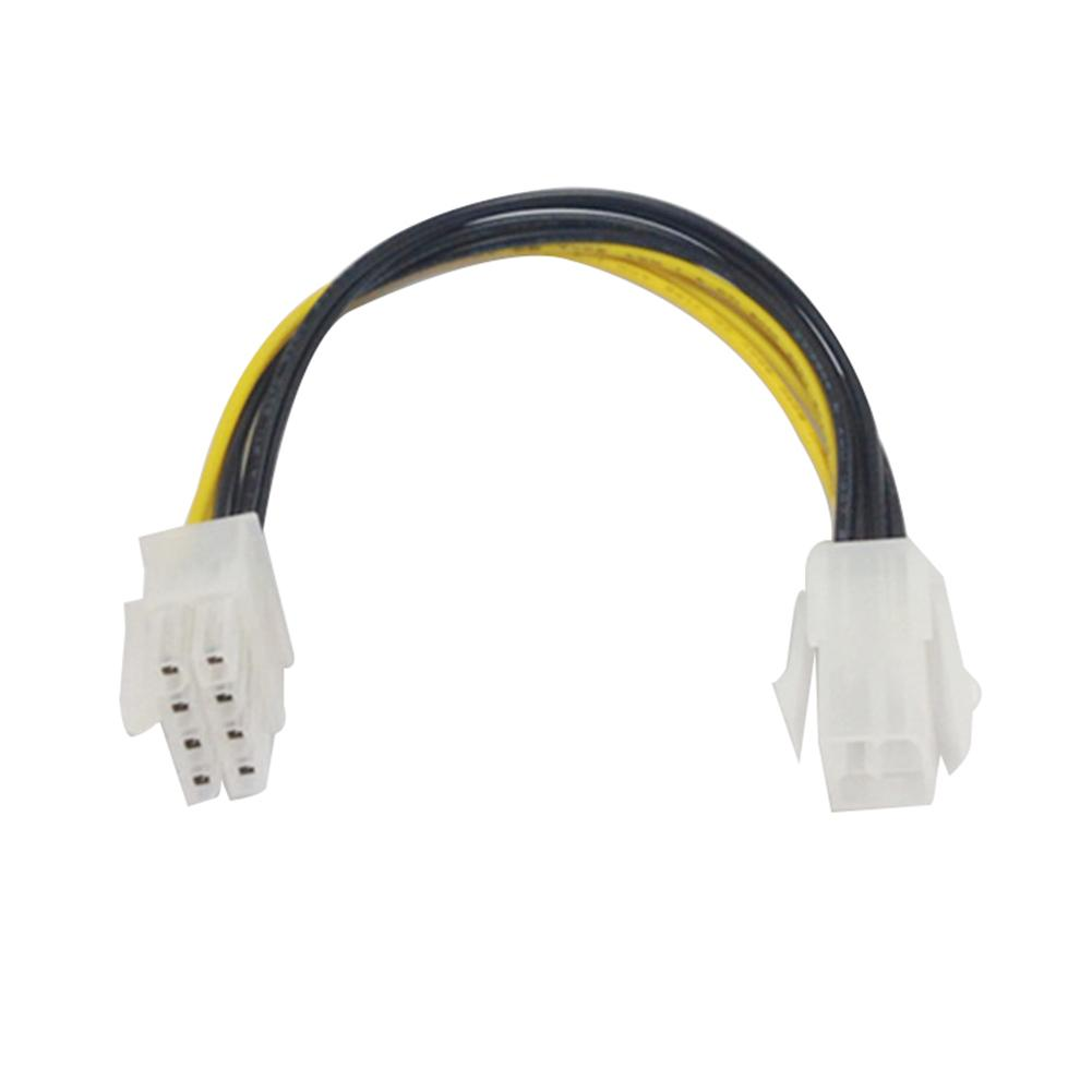 New Arrival EPS 8-Pin Male To ATX 4-Pin Female Motherboard CPU Power Supply Adapter Cable
