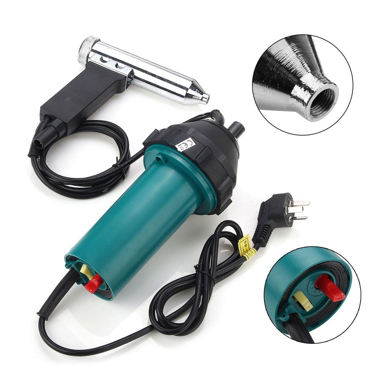 240 V 1080 W 50Hz En Plastique Pistolets à Air chaud Soudage À Air Chaud Torche De Soudage Pistolet Outils Électriques avec Buse kit de tuyau pour poste à souder