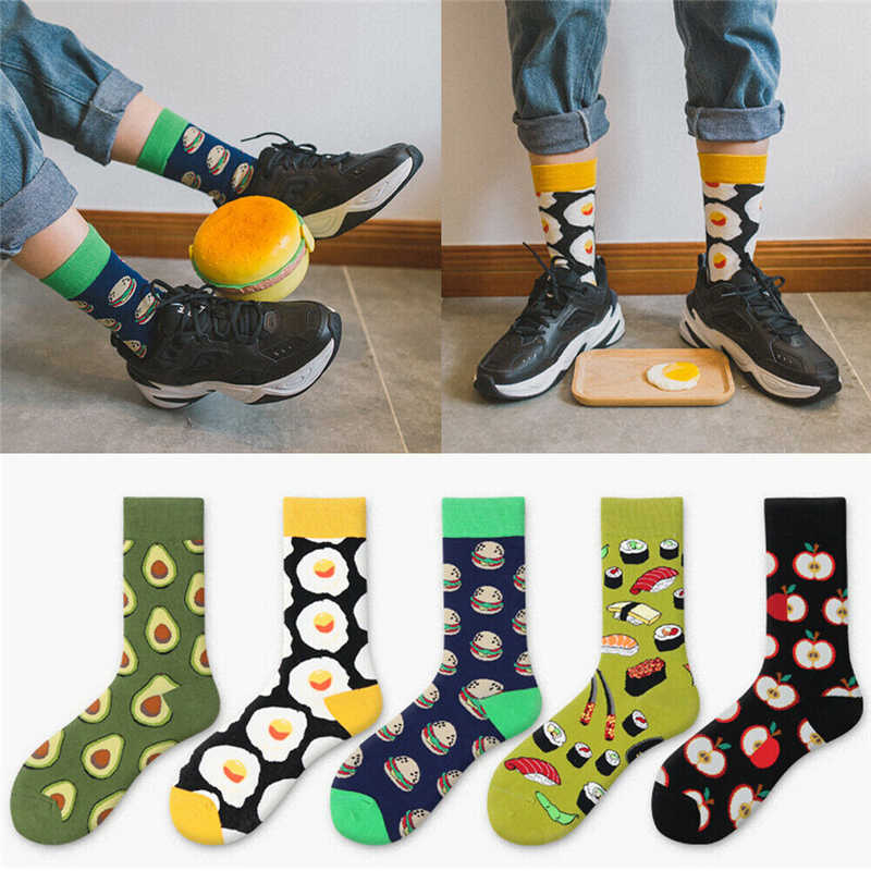 Fashion Hip Hop Men Women Creative Cotton Happy Socks Summer Style Breathable Colorful Casual Socks Man Personality Funny Sock