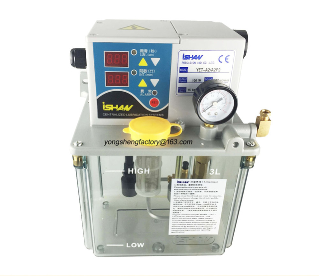 US $198 0  CE electric lubrication oil pump gear lubricator CNC machine  oiler 3L 220V YET A2 A2P2 for centralized lubrication system-in Pumps from