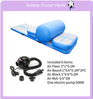 Air track Home Edition Inflatable Airtrack Training Set For Home Use Yoga exercise Sealed Airtrack With Roller Electric Air Pump