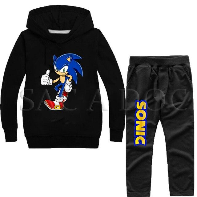Super Sonic impreso chándal de los niños de otoño e invierno ropa deportiva  sudadera niños 2 30804a7cf76