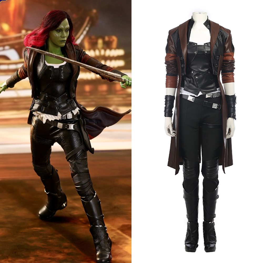 Guardians of the Galaxy Vol 2 Gamora Cosplay Costume Outfit Halloween Suit