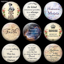 Luminous Quotes Letters Fridge Magnet  Souvenir 30 MM Glass Dome Magnetic Decoration Refrigerator Stickers Note Holder Home