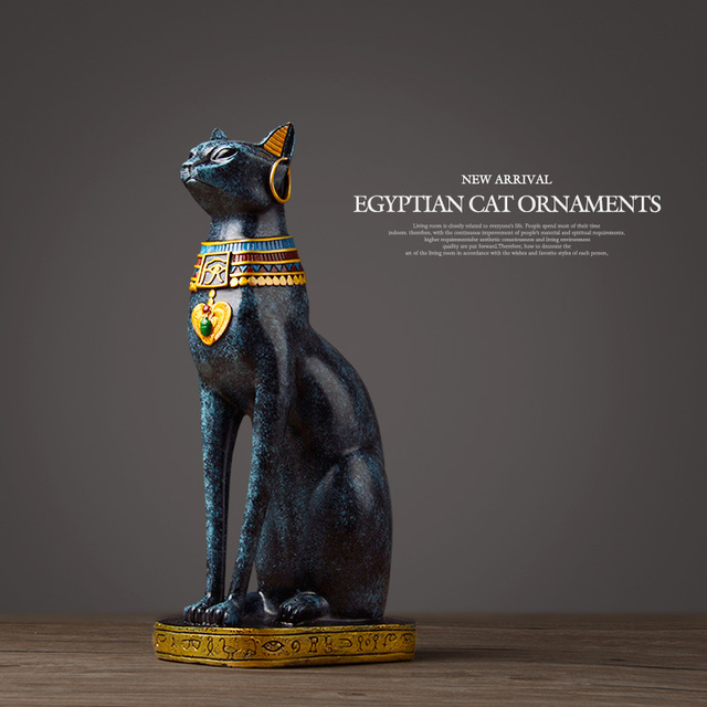 Egyptian Cat resin craft vintage home decor Modern Vintage Baster goddess god pharaoh figurine statue for table ornaments Gift 4