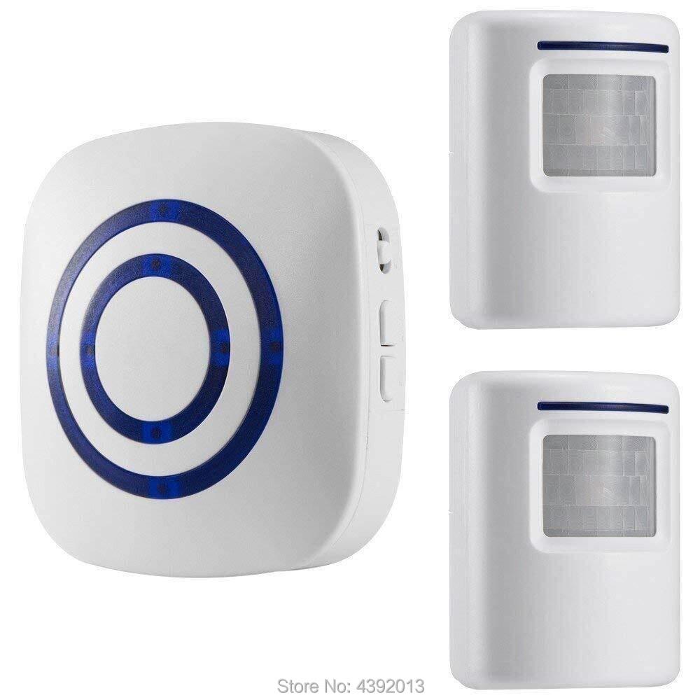 Sensor de movimento alarme, sistemas de alarme sem fio kits de segurança em casa, segurida sensor de movimento detectar alerta 2 sensor e 1 receptor