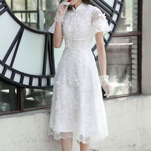2019 spring and summer new arrival princess dress organza embroidered temperament lady 90020