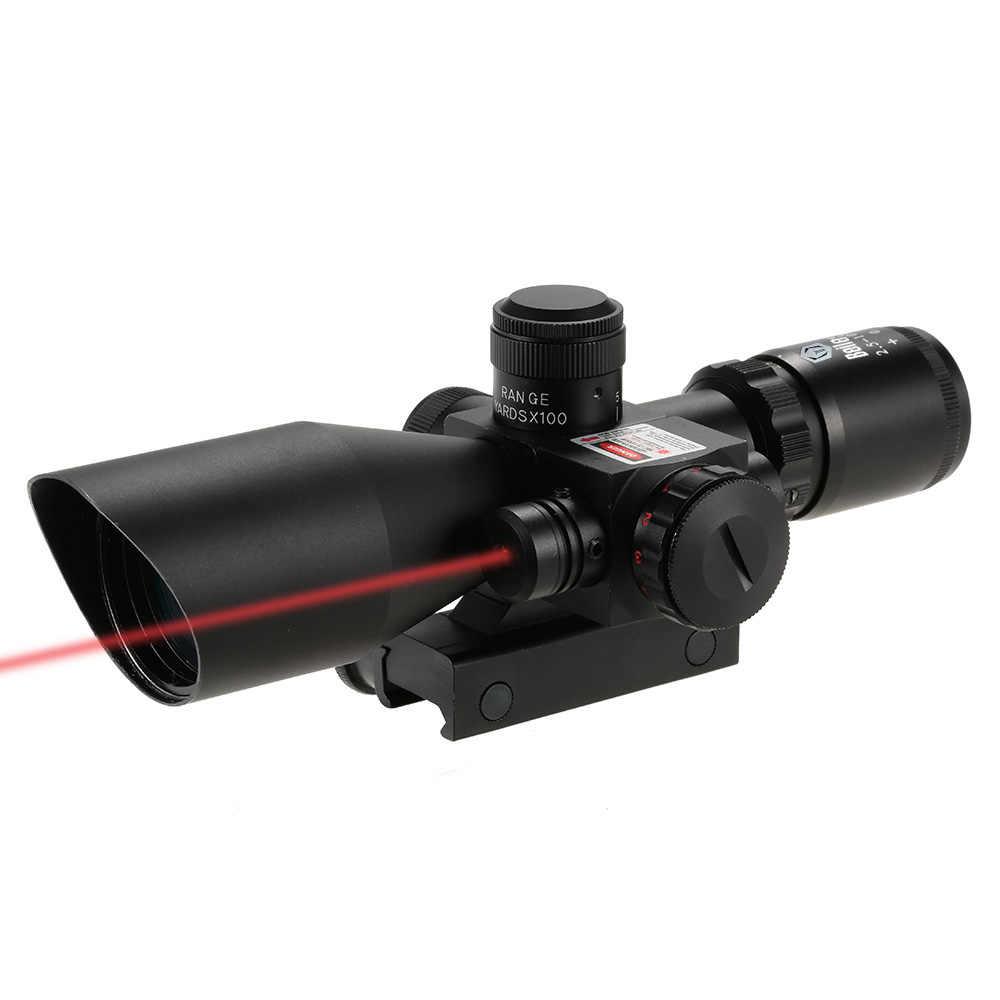 2,5-10X40 Riflescope зеленый красный двойной подсветкой сетка тактический Riflescope Mil-Dot охотничий прицел