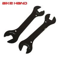 2pc aço chave do eixo 13/15/14/16mm largura open end ferramentas de reparo da bicicleta hub cone chave multifuncional ferramenta