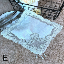 28*28cm Korean Style Lace Hollowing Out Pure Manual Nail Bead Simplicity Modern Tea Tray Telephone Set Top Box Decorate Cloth