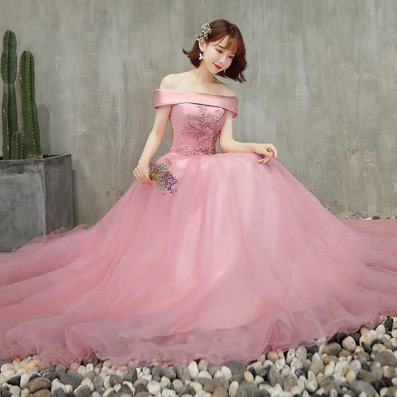 Дешевые кружевные бальные платья бальное платье с открытыми плечами сладкое 16 дебютантные платья для 15 лет розовое длинное платье для выпускного вечера плюс размер