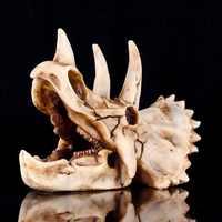 18 cm * 12 cm * 10 cm DIY Harz Dinosaurier Triceratops Schädel Knochen Tier Modell Handwerk Skeleton Pädagogisches Wissenschaft spielzeug Neue Jahr Geschenk