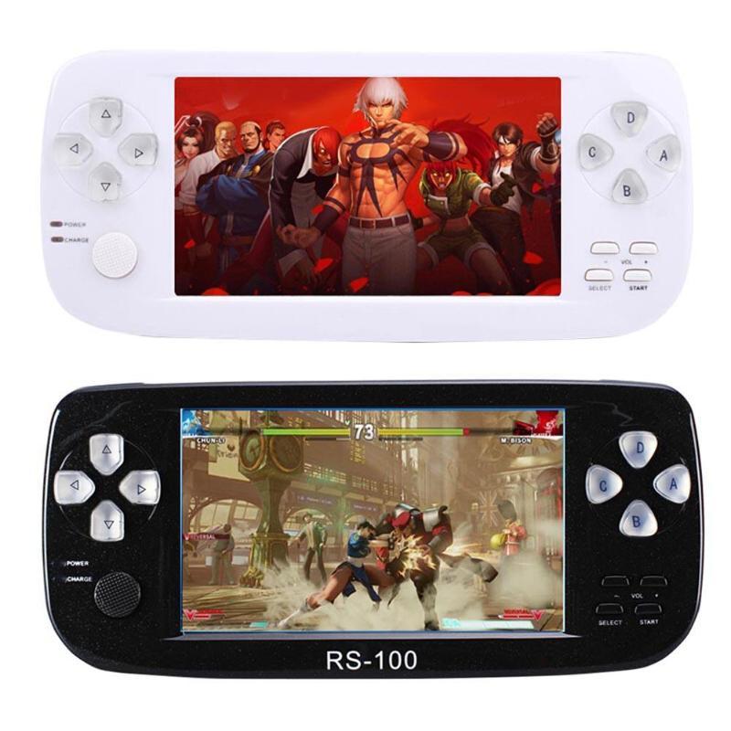RS-100 portable 4.3 pouces Console de jeu lecteur de jeu avec vidéo 2MP caméra pour SFC CP1 CP2 NEOGEO GBA MD FC
