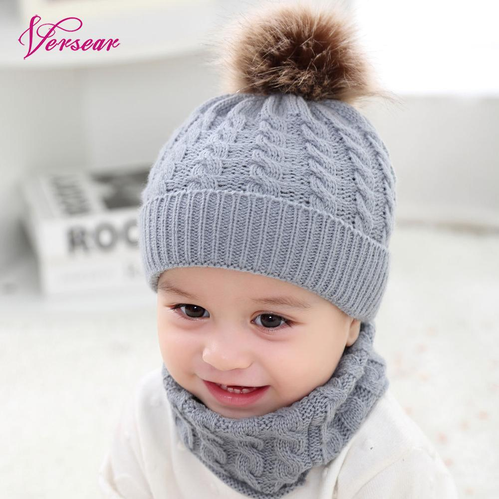 Scarf, Hat & Glove Sets Careful Versear 2pcs Toddler Kids Hats Baby Circle Loop Scarf Suits Neck Warmer Warm Infant Winter Crochet Knit Hat Beanie Cap Scar