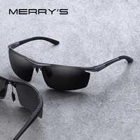 Gafas de sol clásicas de aleación de aluminio con diseño MERRYS para hombre gafas de sol polarizadas HD para conducir deportes al aire libre protección UV400 S8530