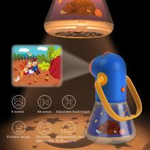 Детский Сказочный флэш-светильник, проектор, игрушка, проектор, детская история для сна, раннее образование, игрушка для ребенка 3 в 1, Звездный спальный светильник