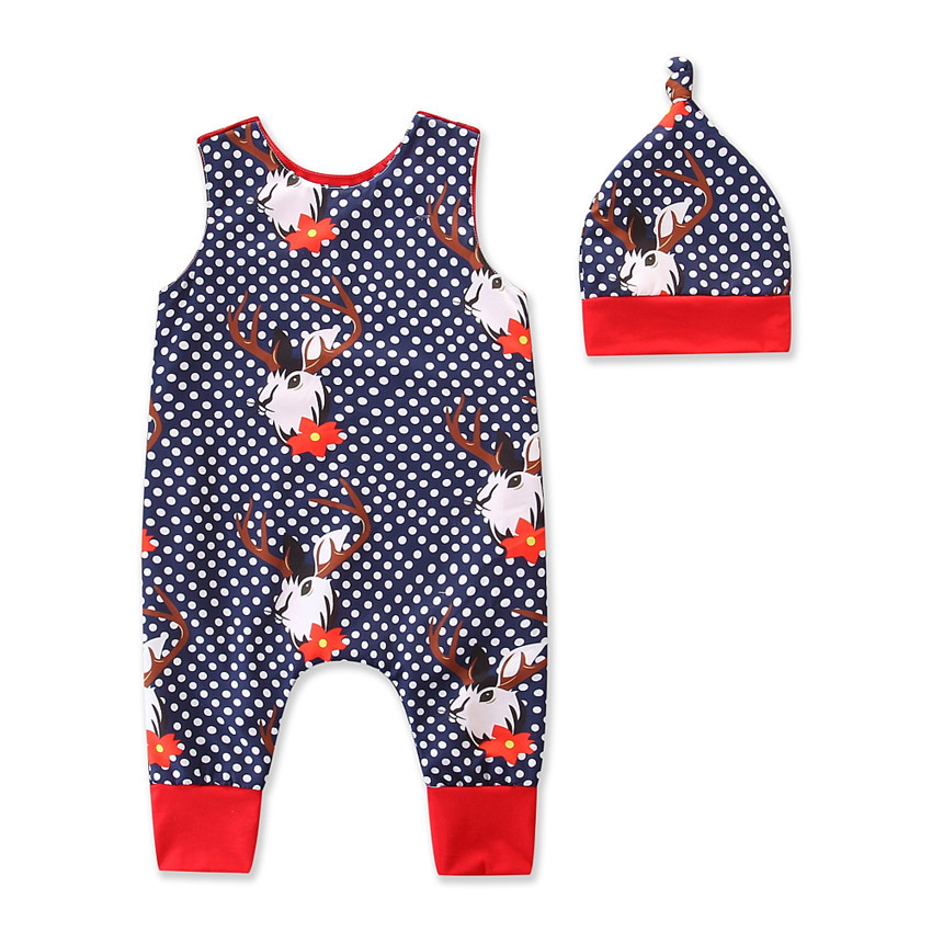 VTOM Summer Newborn Baby   Rompers   Sleeveless Cotton   Rompers  +Hats Infants Boys And Girls Jumpsuits Outfits Clothes