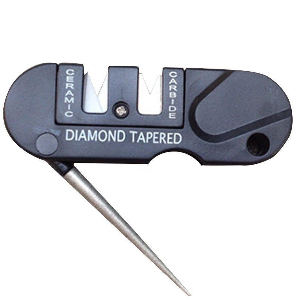 Вольфрамовый алмазный инструмент для заточки, керамический карманный твердосплавный нож для заточки рыбы портативный точильный камень дл...