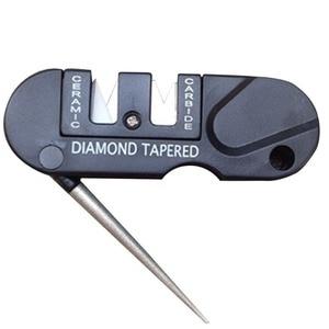 Sharpener Diamond Tool Camp Hike Tungsten Ceramic Sharpen Fish Hook Pocket Carbide Knife Whetstone outdoor Portable