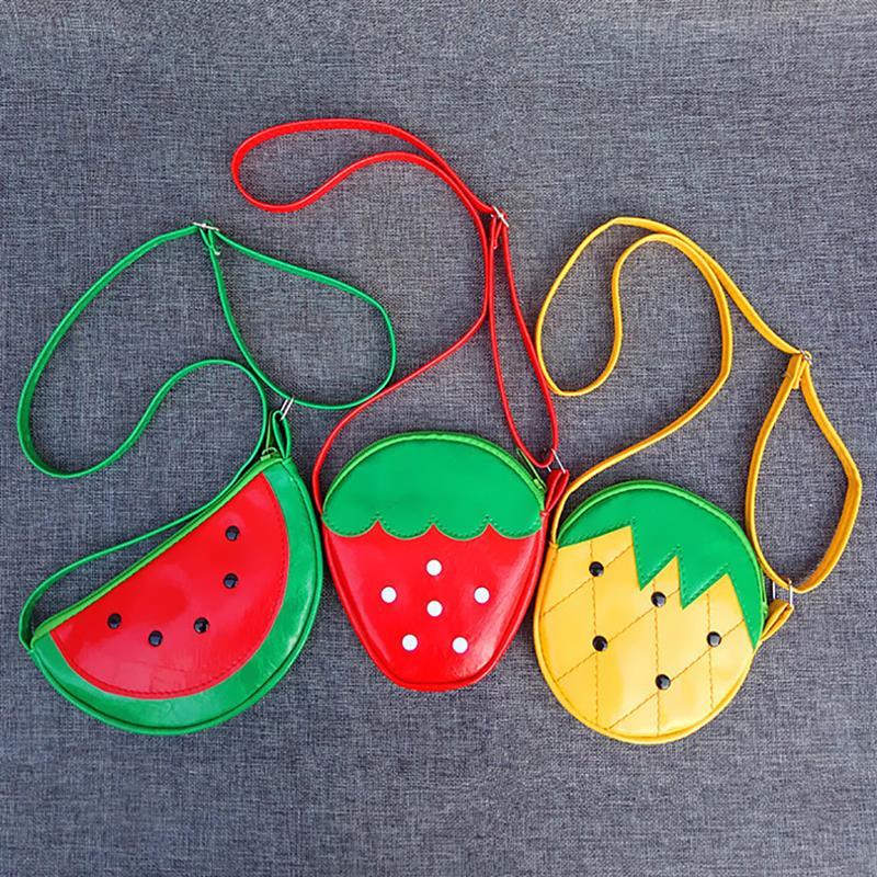 Baby Obst Handtasche Kinder Geldbörse Schulter Tasche Nette Ananas/wassermelone Mädchen Junge Kleine Tasche Schöne Kinder Umhängetasche Kinder- & Babytaschen