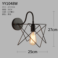 Wind Single Head Bend Tube Clematis Cage Wall Lamp Originality Personality Restaurant Corridor Aisle Wall Decoration Lamp
