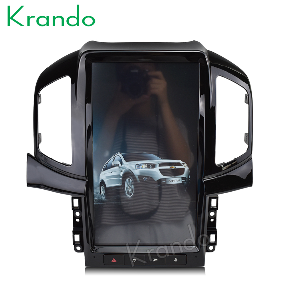 Krando Android 6 0 13 6 Tesla Vertical screen car dvd gps navigation system for Chevrolet
