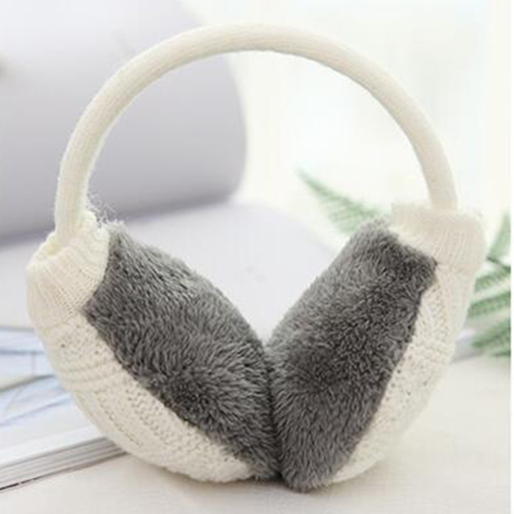 Unisex Adjustable Knitted Winter Ear Muffs With Faux Furry Outdoor Ear Warmers For Women Men