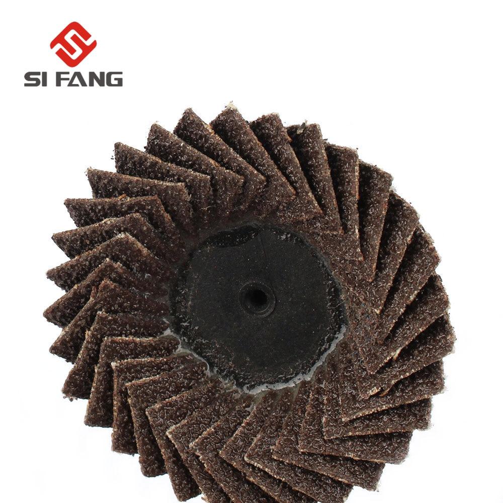 5Pcs 2 Inch Flap Sanding Disc Wheel Type Roloc Threaded Twist Lock Part 60 Grit