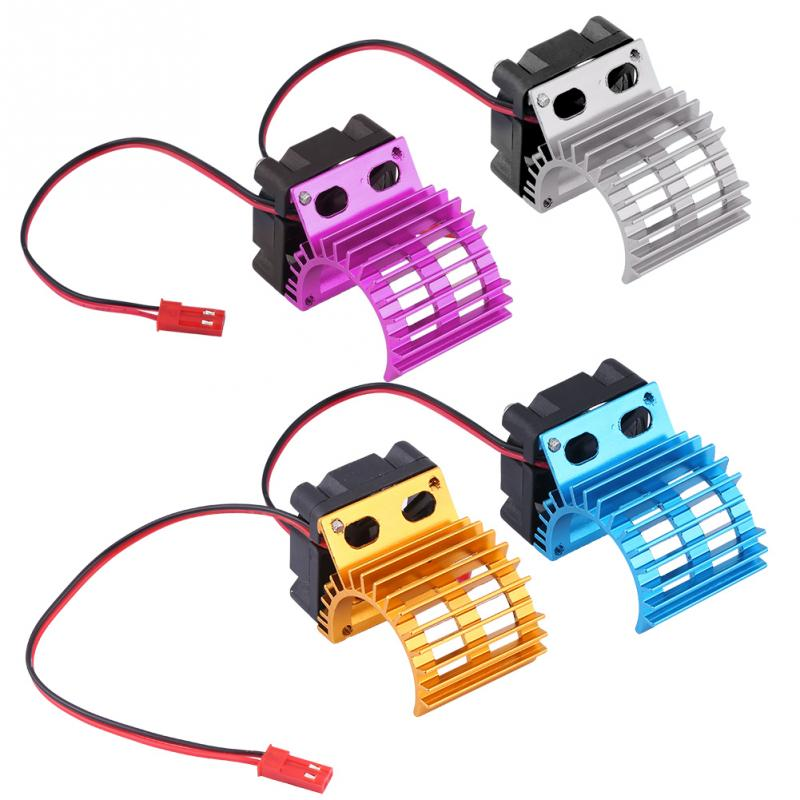 <font><b>Motor</b></font> Cooling Heat Sink With Cooling Fan for <font><b>1</b></font>/<font><b>10</b></font> Scale Electric RC Car Heatsink Top Vented 380 / 390 <font><b>Motor</b></font> Buggy Crawler Kit image