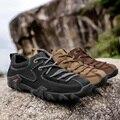 Весенне-осенние мужские тактические ботинки из натуральной кожи для походов и путешествий  дышащие кроссовки для горных походов  мужская о...