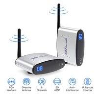 Tüketici Elektroniği'ten Radyo ve TV Yayın Ekipmanları'de Sıcak Yeni 2.4GH 150M Kablosuz AV Verici ve Alıcı TV Yayın Ses Video gönderen TV sinyal alıcısı 3 RCA RTE330
