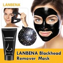 LANBENA Blackhead Remover Nose Black Mask Oil Control Face Care Mud Acne Treatment Peel Off Pore Strip Skin