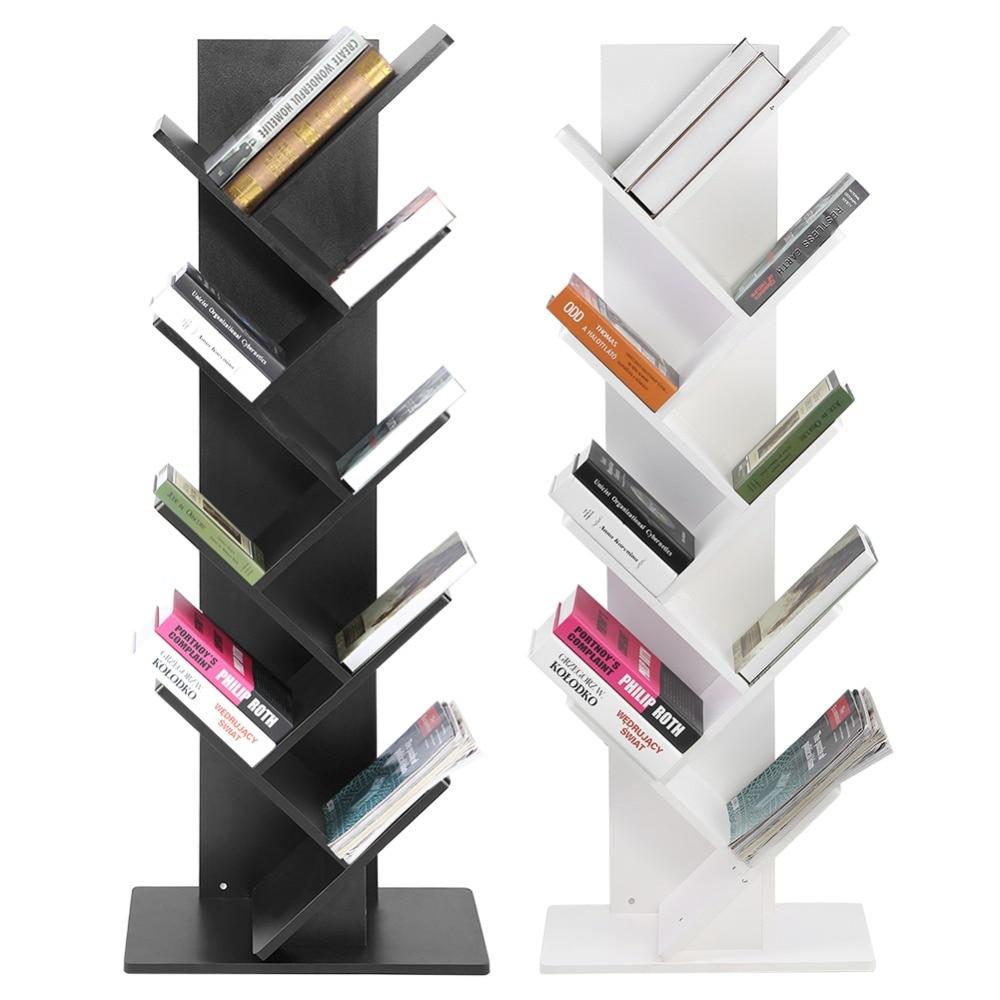 Modern 9 Tier Bookshelf Bookcase Books CDs Display Storage Rack Shelf Organization Cabinet